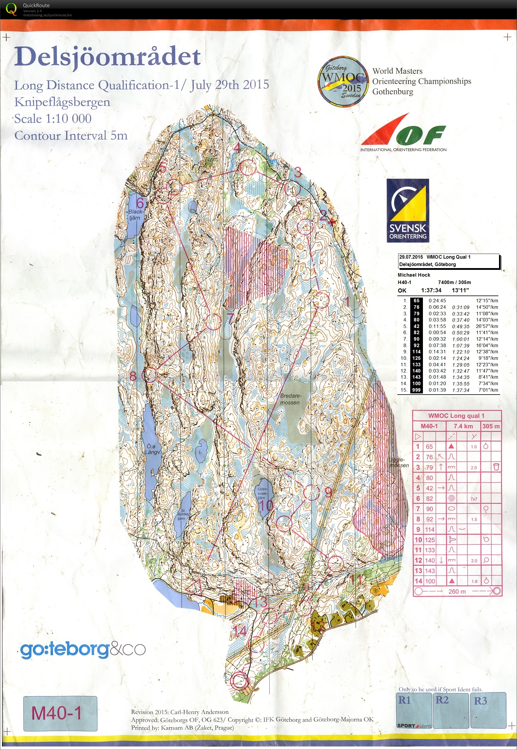 WMOC 2015 Long Qualification 1 (29.07.2015)