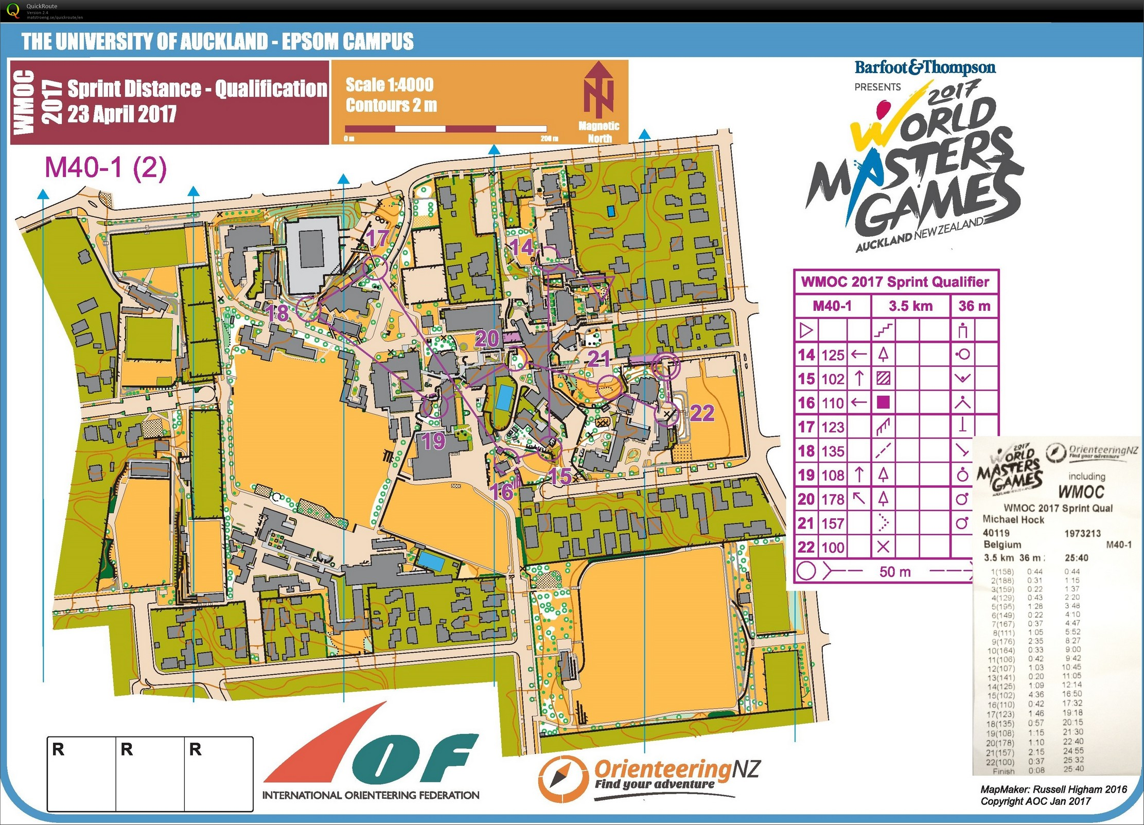 WMOC 2017 Sprint Qualification (23.04.2017)