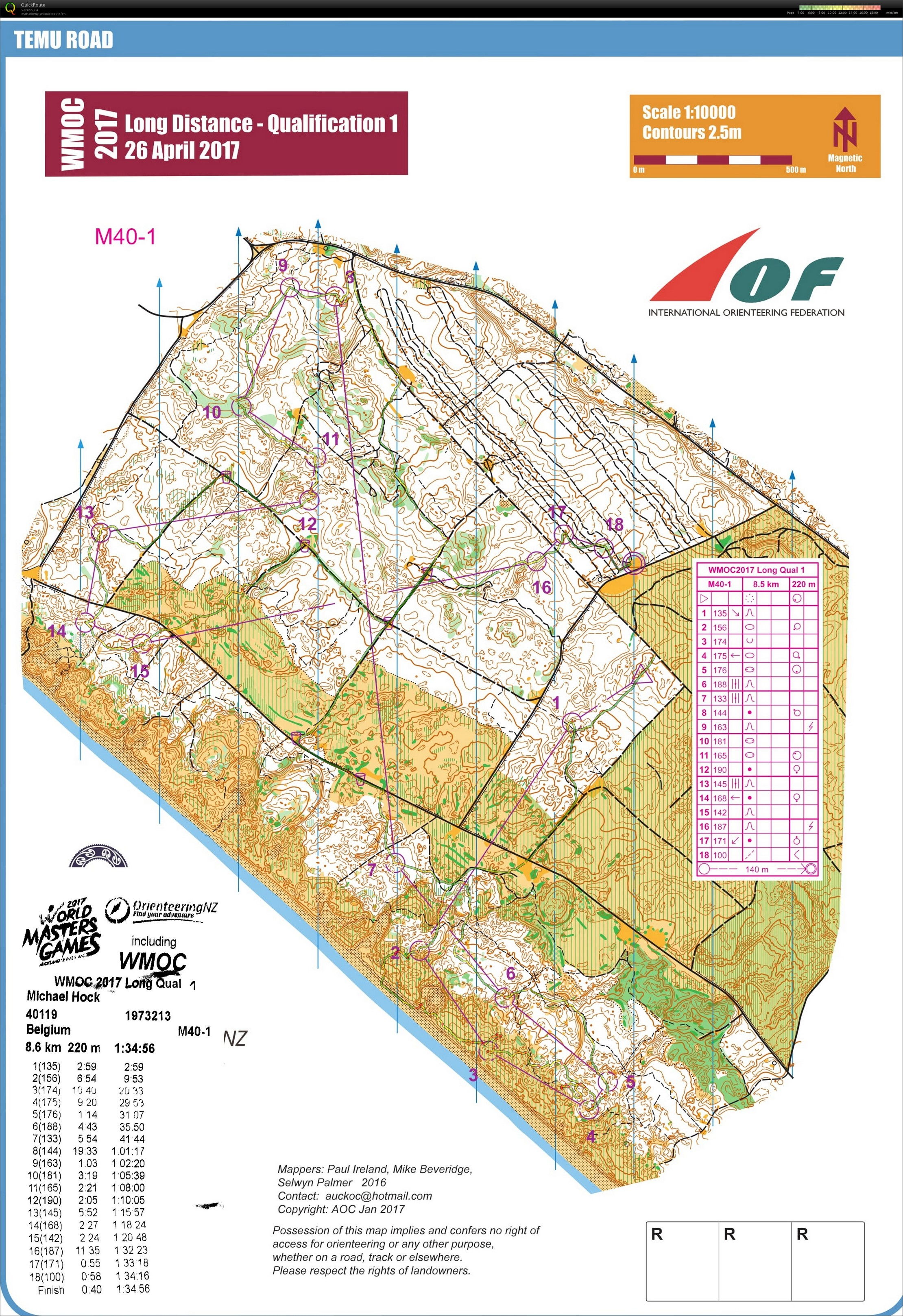 WMOC 2017 Long Qualification 1 (25.04.2017)